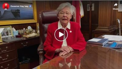 Gov. Kay Ivey sends encouraging message to Alabamians