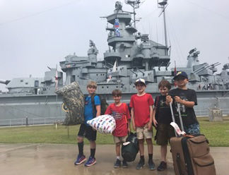 Scouts tour U.S.S. Alabama