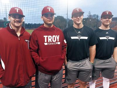 Troy baseball players