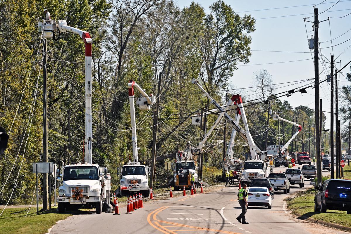 Utility crews working to restore power