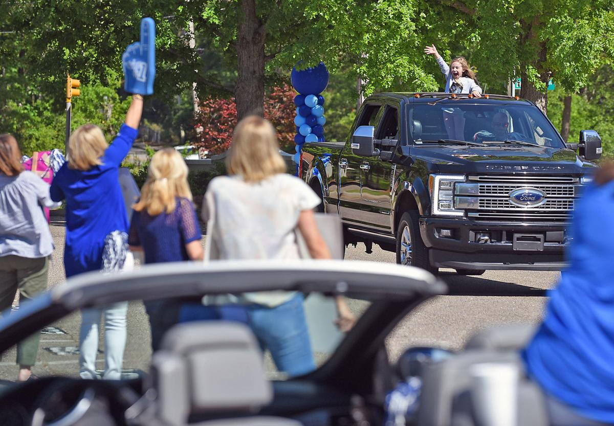 Houston Academy teachers hold parade for students