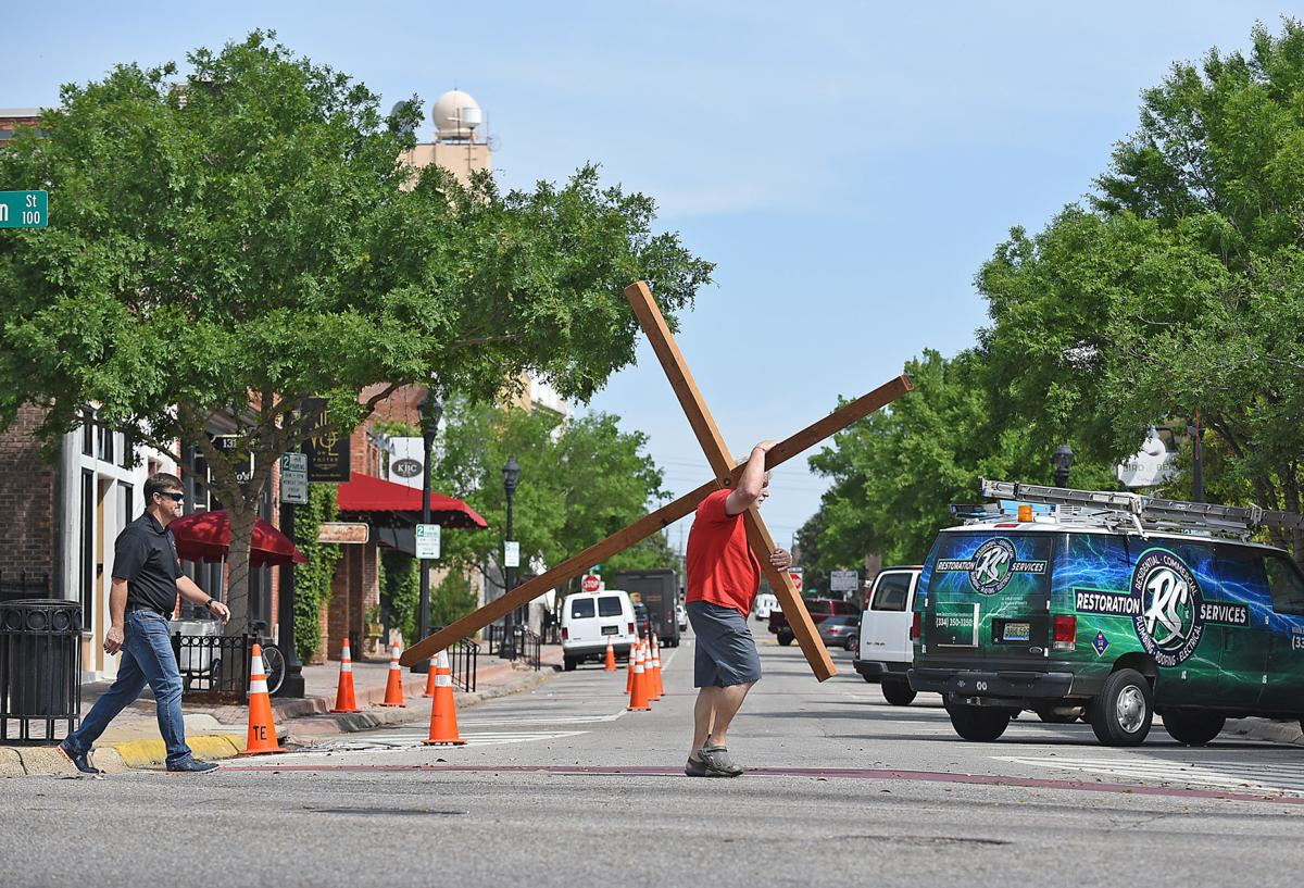 Good Friday cross carry
