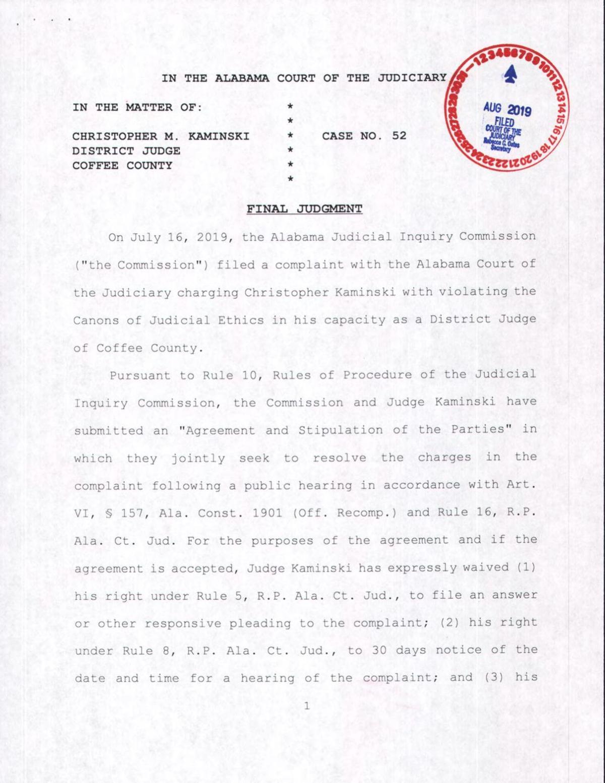 Kaminski: Final Judgement