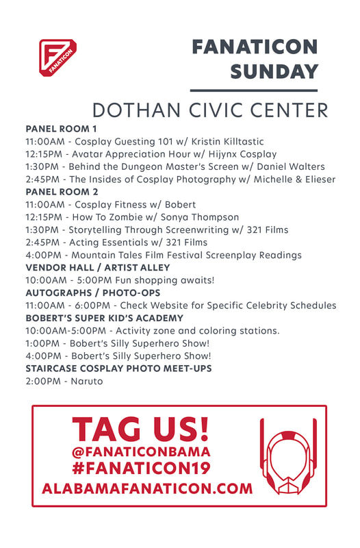 Fanaticon 4, sunday schedule, civic center