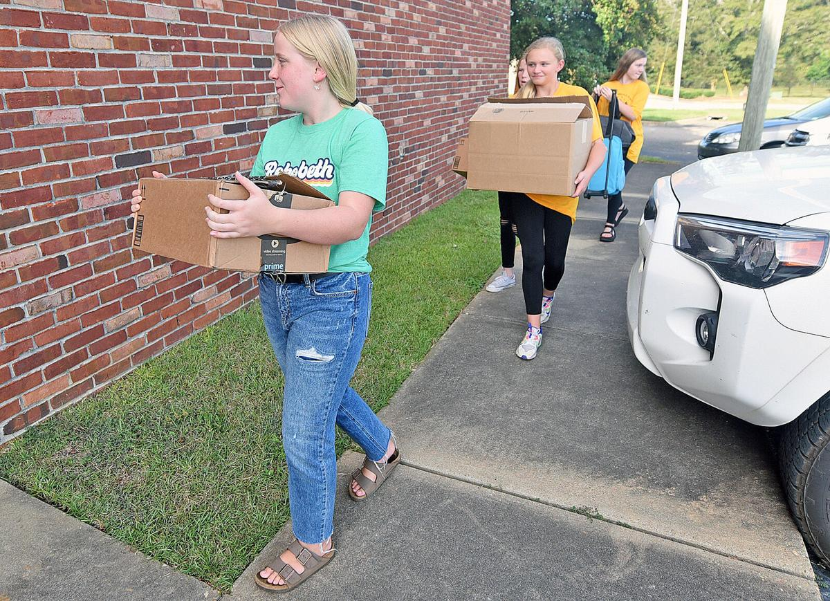 Rehobeth Middle School Beta Club members donate to foster children