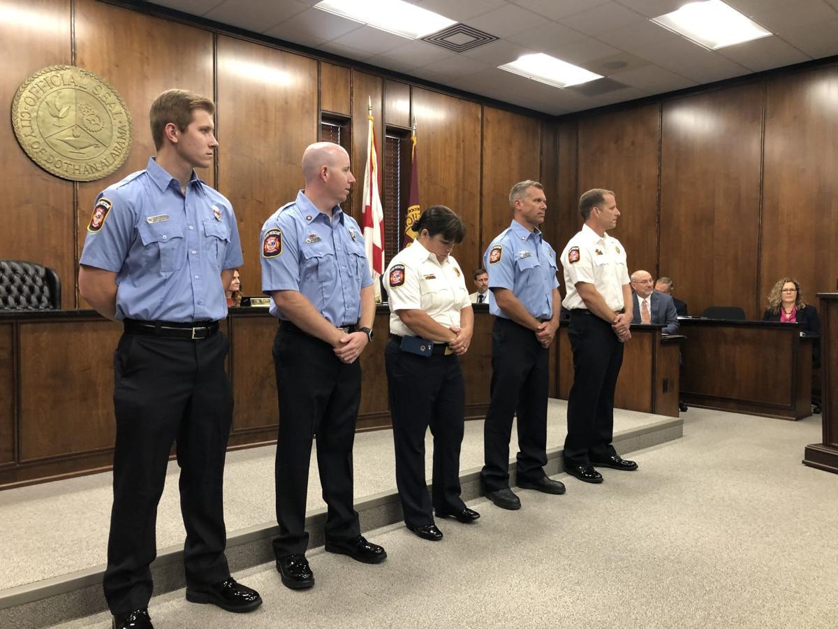 Life-saving firefighters