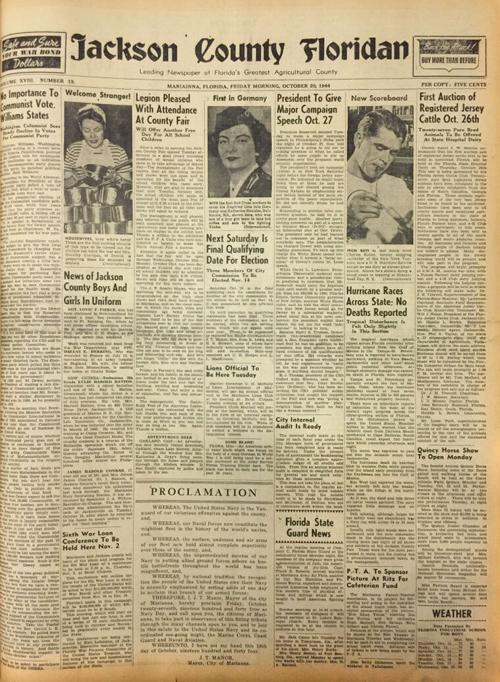 From the Floridan archives: 1944