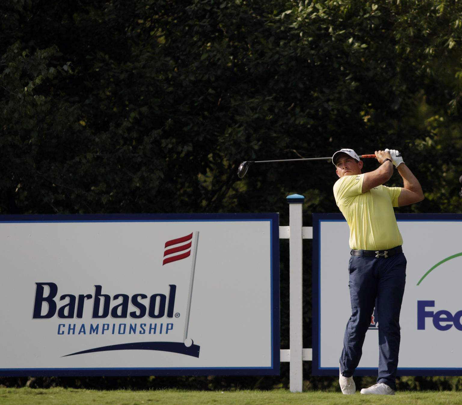 Tringale, Blair, Flores co-lead suspended Barbasol Championship