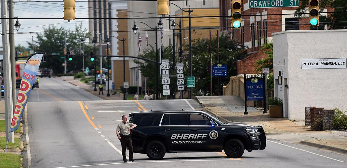 Bomb threat at Houston County Courthouse