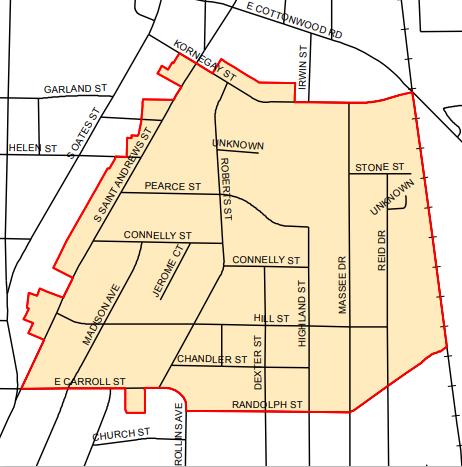 Cloverdale area map