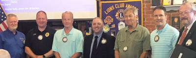 New Lions club members