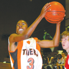 Rasheed Campbell looks for two points for Graceville.