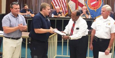Enterprise firefighter receives Extra Mile Award