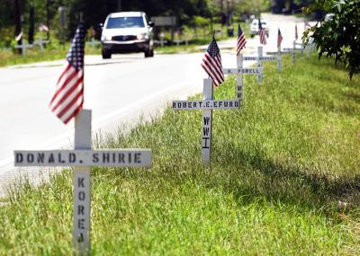 Veterans Day Homer Spooner crosses