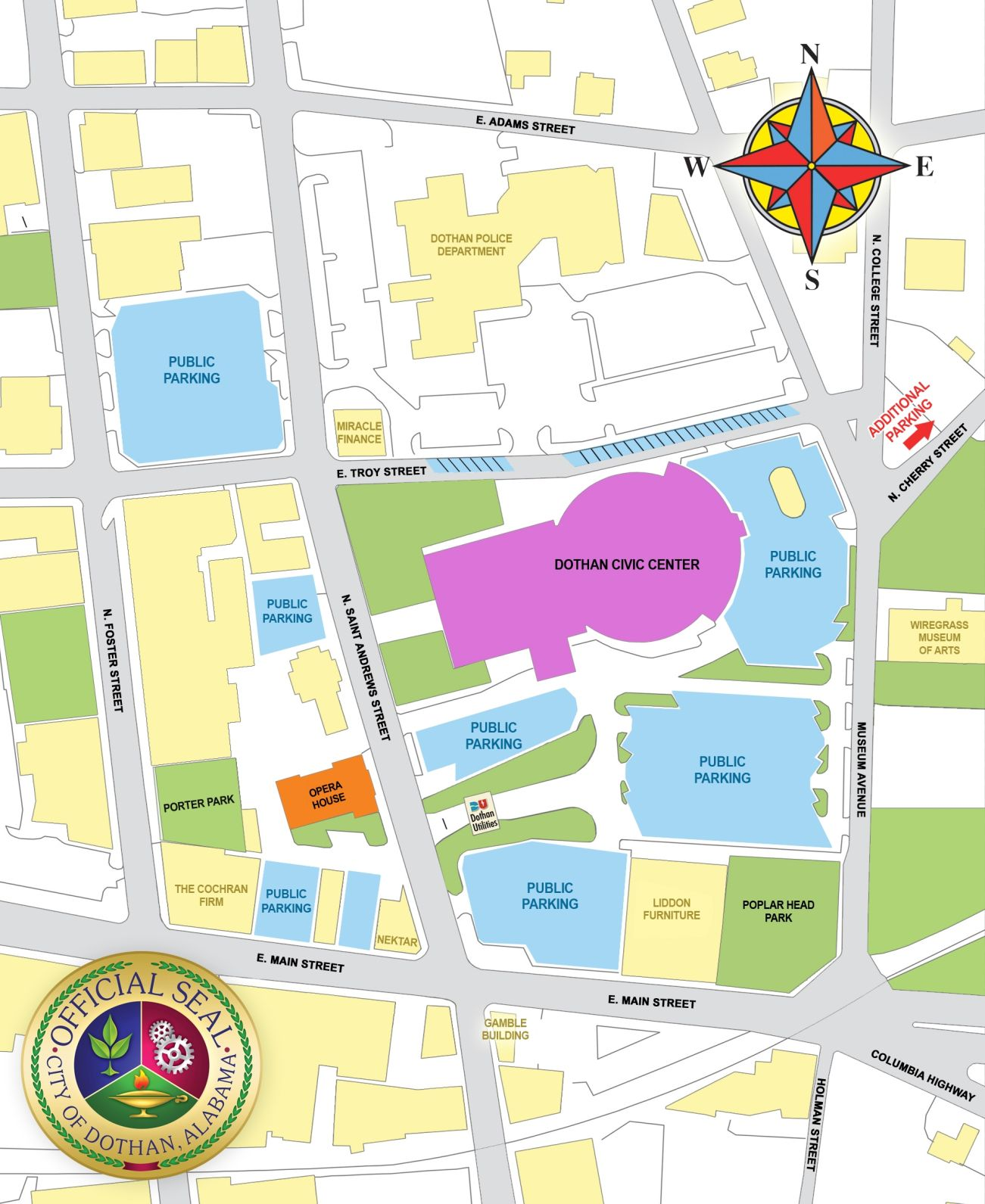 dowtown parking map dothaneaglecom