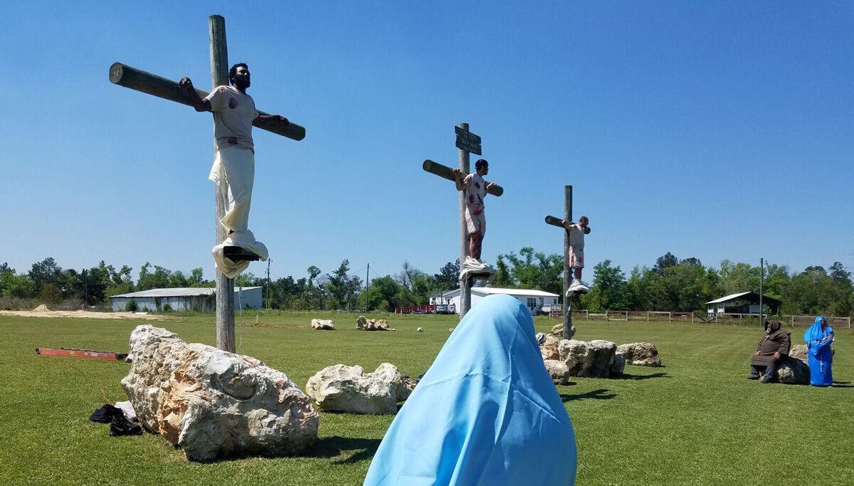Crucifixion reenactment held