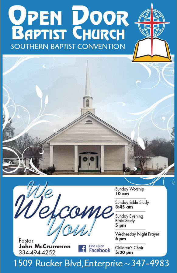 Open Door Baptist Church Ad