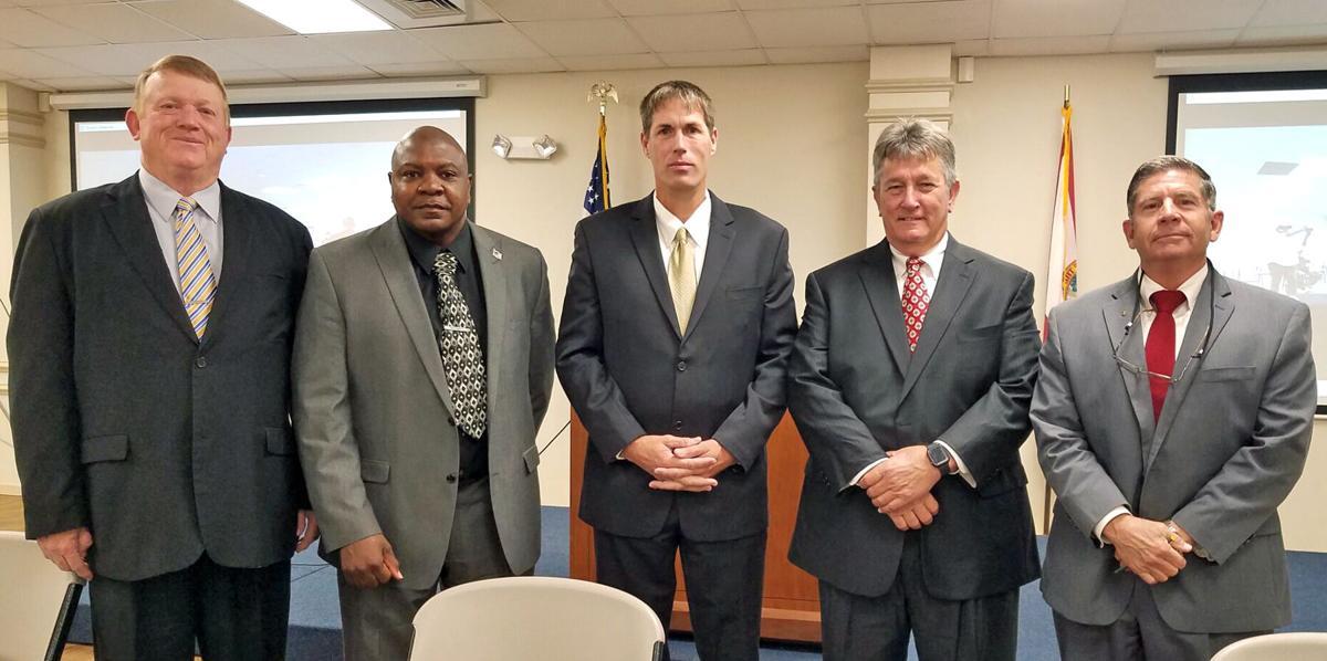 School and county officials sworn