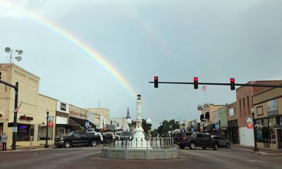Mother Nature 'spotlights' Boll Weevil Monument
