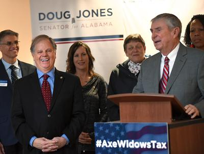 Senator Doug Jones repeal of widows tax