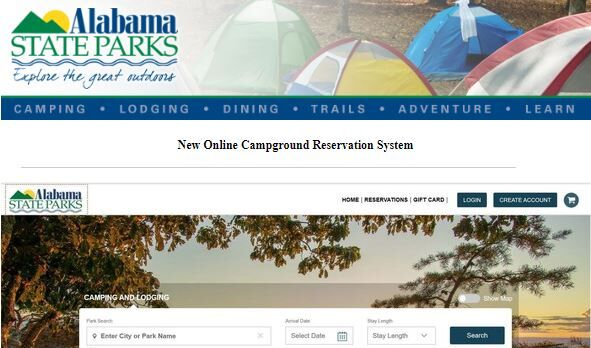 Alabama state parks new reservation system coming August 2020
