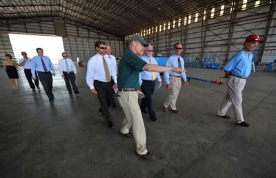 Commissioners Tour New Commercial Jet Facility