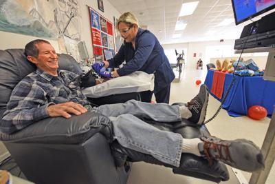 Gregg Turnbull 500th blood donation