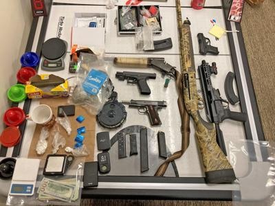 Police seize guns, drugs at local hotel; Davidson: Tip leads to three arrests