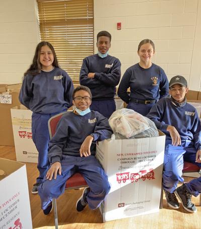 CHHS Navy JROTC donates day of community service