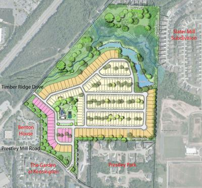Neighborhood with 238 homes proposed for Timber Ridge at Prestley Mill