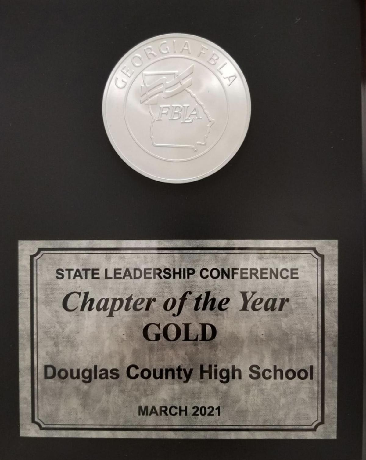 Douglas County High FBLA awarded Gold Chapter of the Year