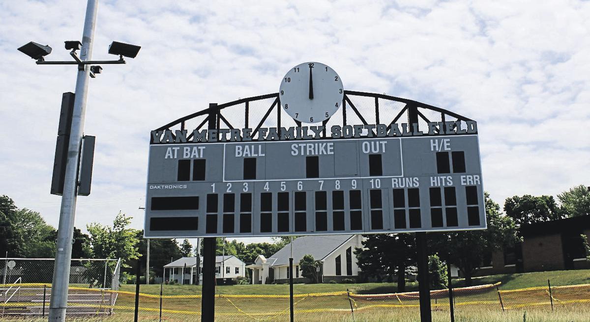 Van Metre Family Softball Field scoreboard