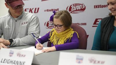 Leighanna Hastie signs her national letter of intent for EKU Soccer