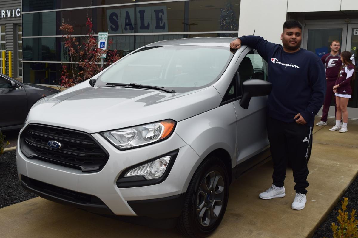 Sameel Patel picks up new car after hitting a half court shot
