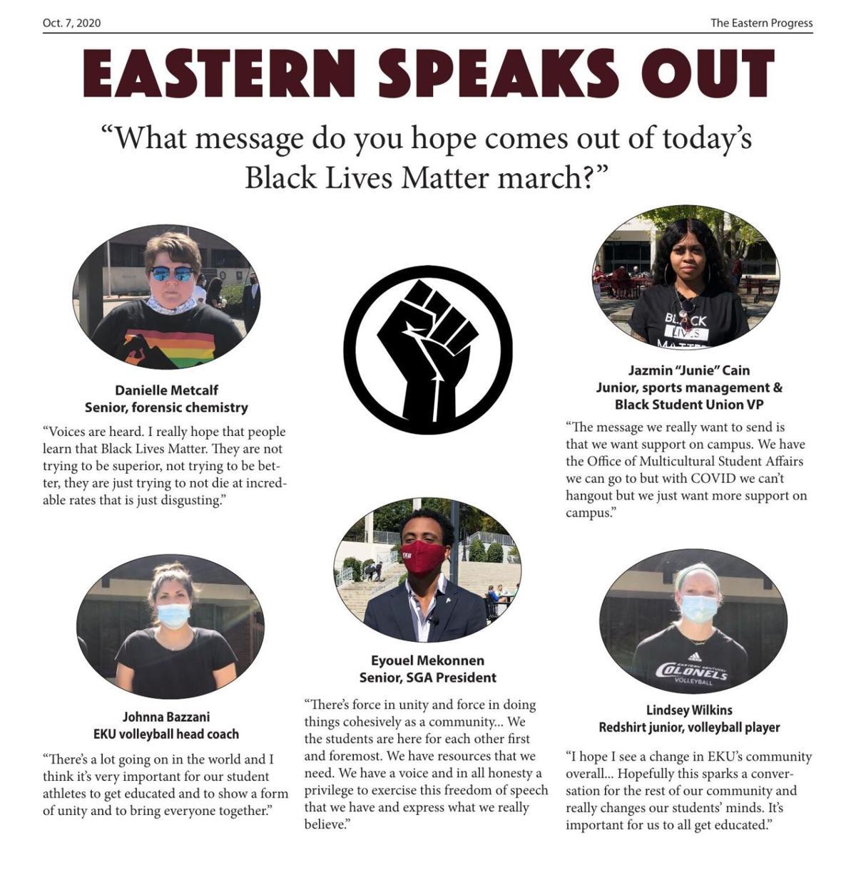 Eastern Speaks Out: Black Lives Matter march