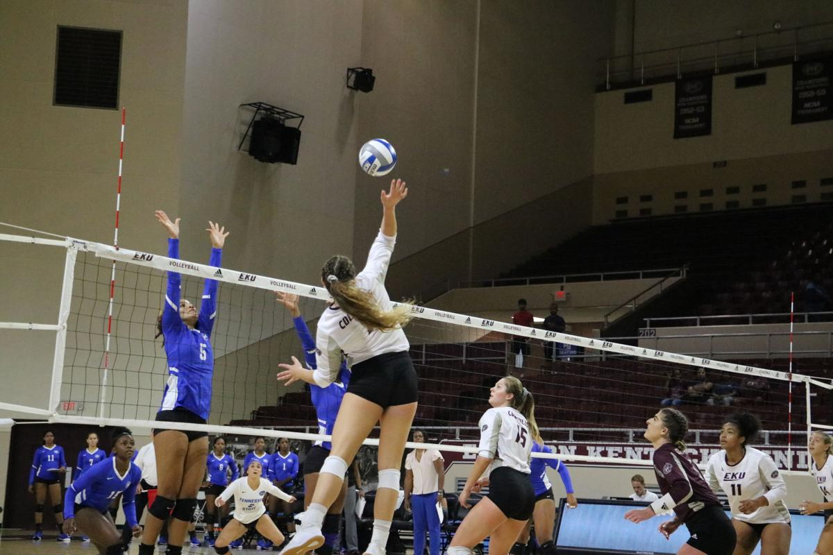 EKU volleyball opens OVC play with loss to TSU