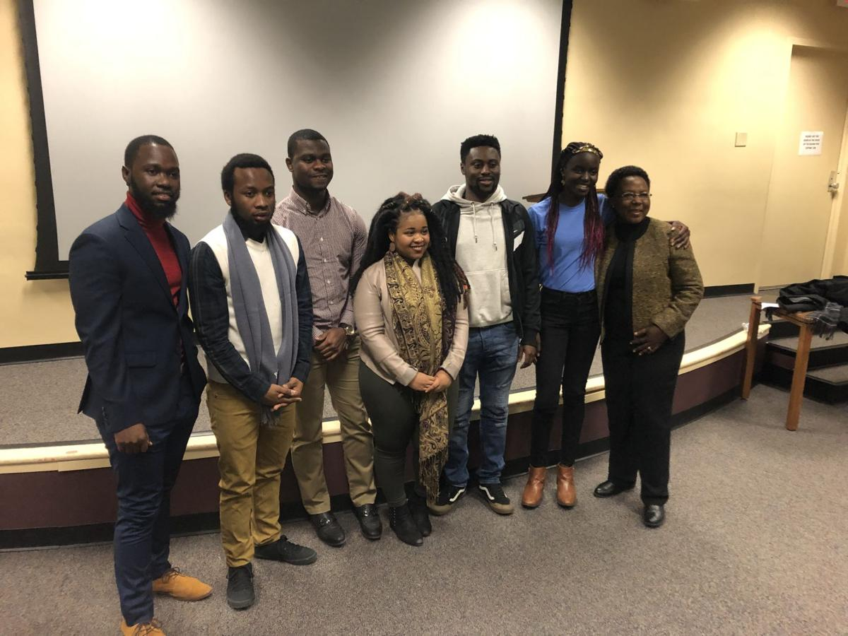 Panelists from the African Student Association