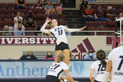 EKU volleyball tames Lions in four-set victory