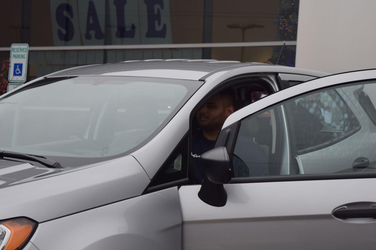 Sameel Patel hits a half court shot and wins a new car