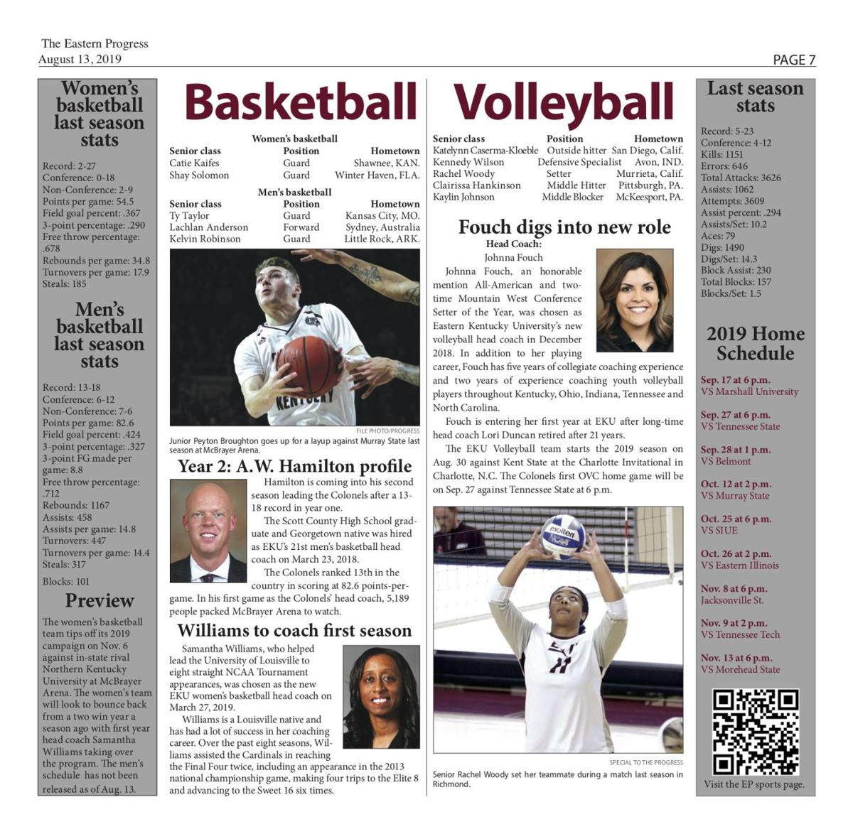 Colonel athletics at a glance