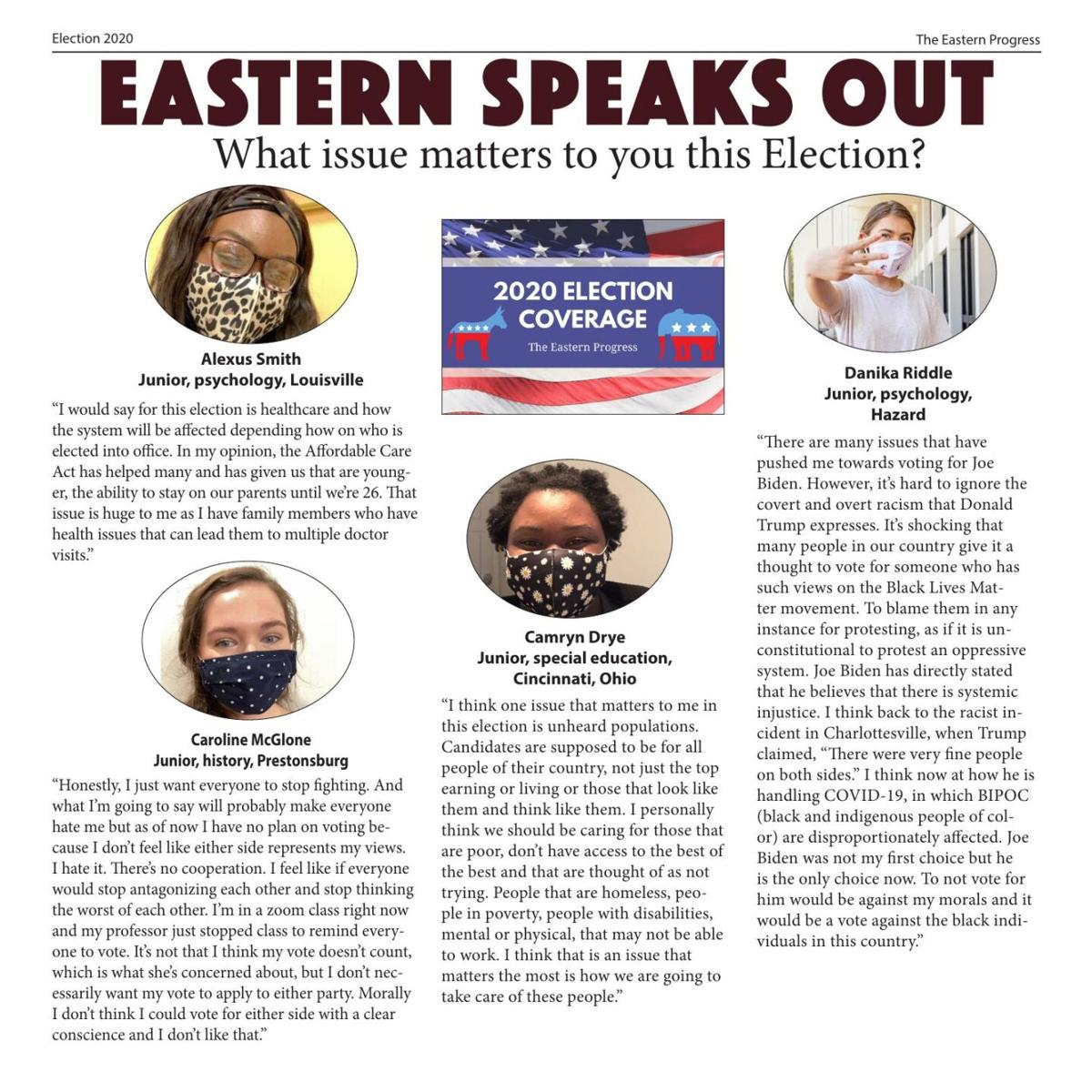 Eastern Speaks Out: What issue matters to you this Election?