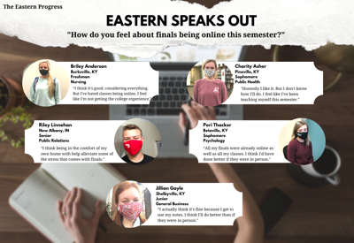 Eastern Speaks Out: How do you feel about finals being online?