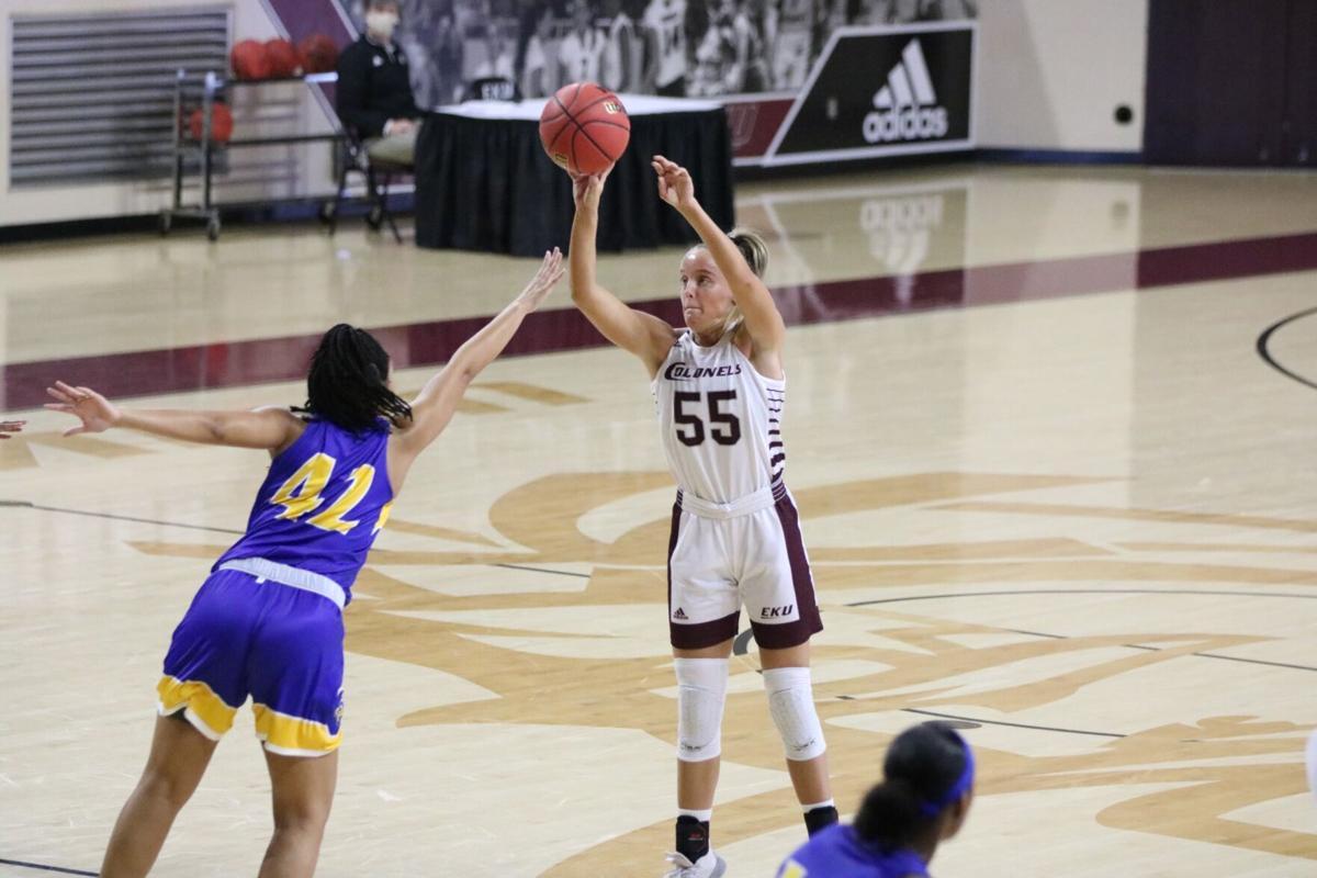 EKU women's basketball sweeps in-state rival Morehead St.