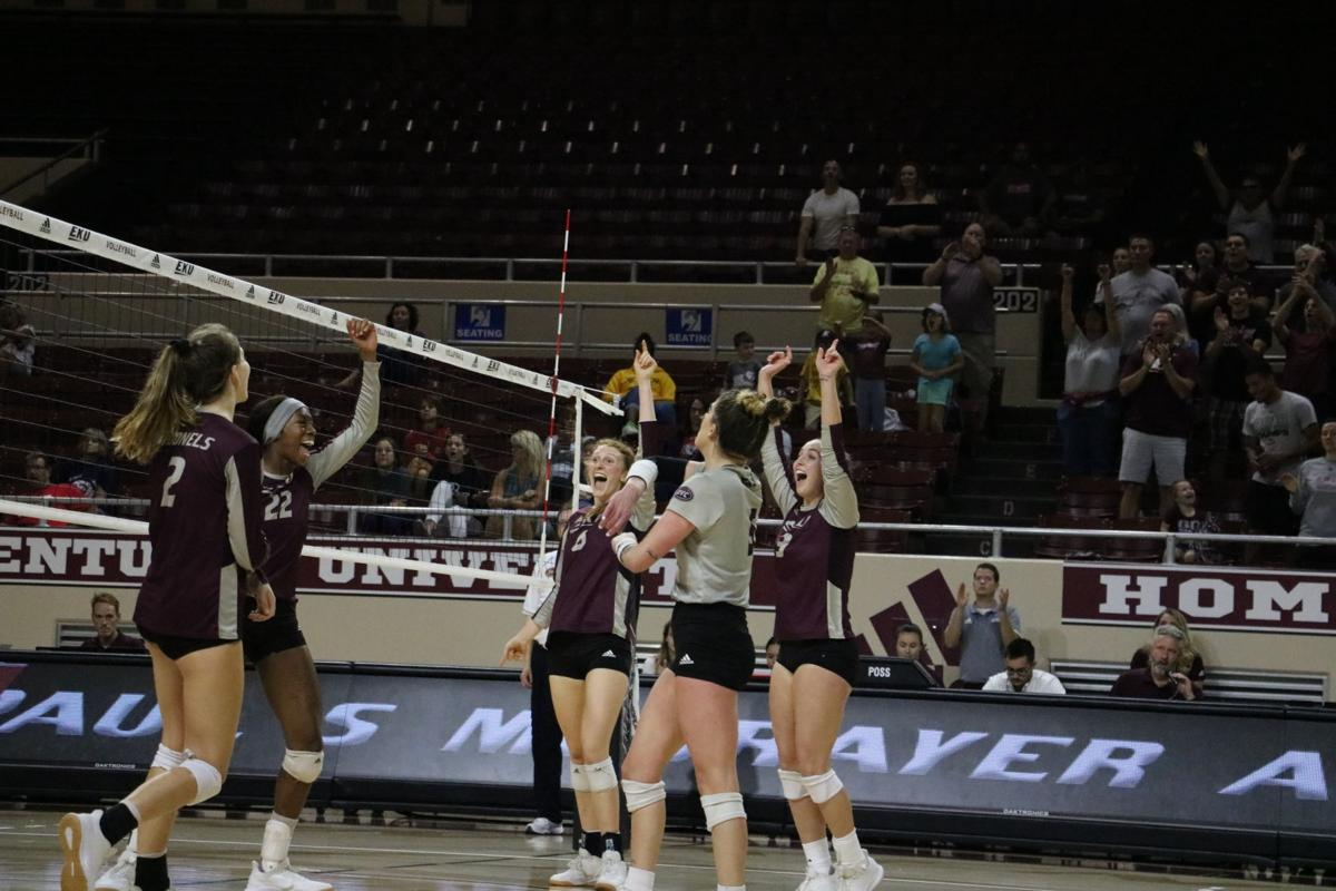 EKU volleyball picks up first OVC win against Belmont