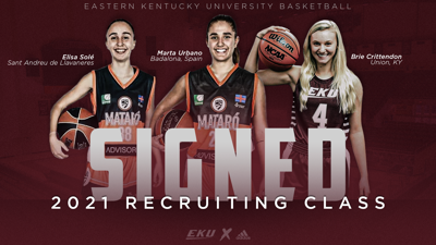EKU women's basketball team signs three players on National Signing Day