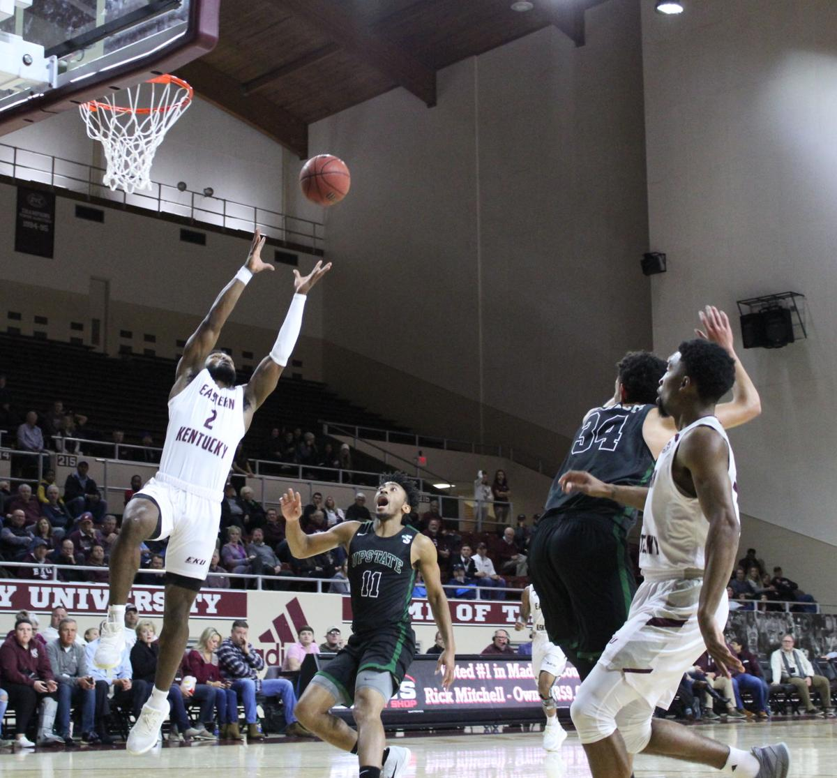 EKU men's basketball wins a close game against USC Upstate 79-77