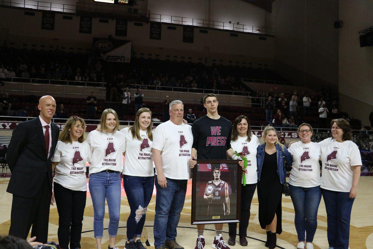 Nick Mayo during senior day