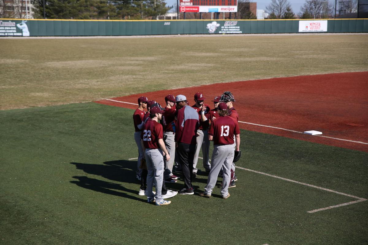 EKU baseball split team scrimmage