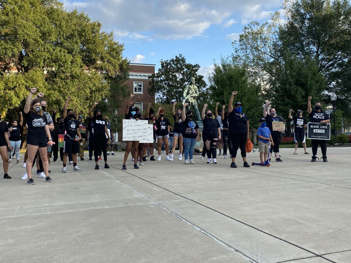 Supporters join Black Lives Matter march at EKU