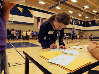 Math games bring middle schools together